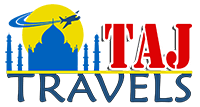 taj tour and travel agency in gorakhpur logo
